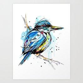 Bold Kingfisher  Art Print