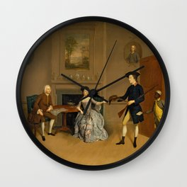 Arthur Devis - John Orde, His Wife Anne, and His Eldest Son William (1756) Wall Clock