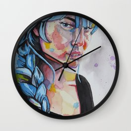 Daisy in Her Hair Wall Clock
