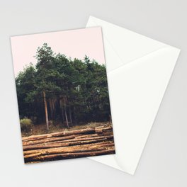 Sad timber industry Stationery Cards