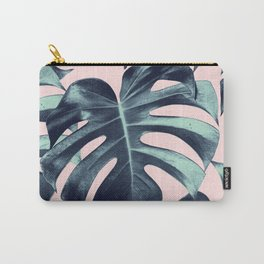 Tropical Monstera Leaves Dream #3 #tropical #decor #art #society6 Carry-All Pouch