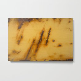 Abstract Yellow Rust Steel Metal Print