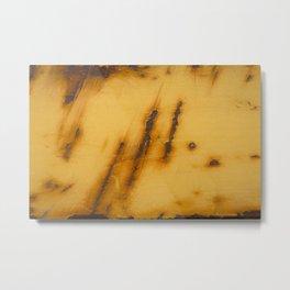 Yellow Rust Steel Metal Print