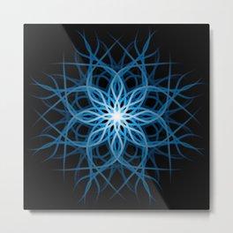Mandala - Winter Blue Metal Print
