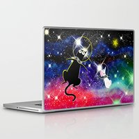 space cat Laptop & iPad Skins featuring Space Cat by Andrew Hitchen