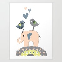 nursery Art Prints featuring Nursery Prints by Dani