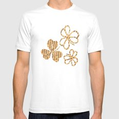 PAPERCUT FLOWER 4 Mens Fitted Tee White MEDIUM