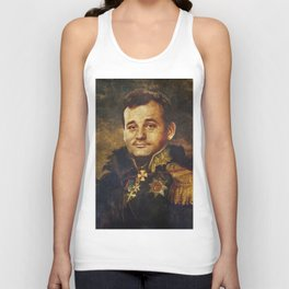 Portrait of Bill Murray Unisex Tank Top