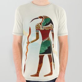 Ancient Secrets THOTH 3D Scifi Egyptian All Over Graphic Tee