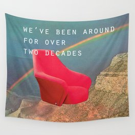 We've been around for over two decades (Red chair and the Grand Canyon) Wall Tapestry