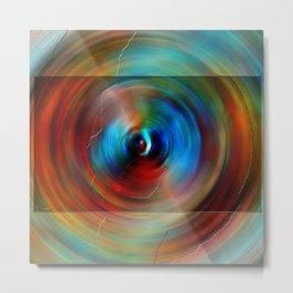 Circle Rainbow Metal Print