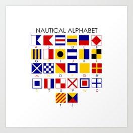 Nautical Alphabet Art Print