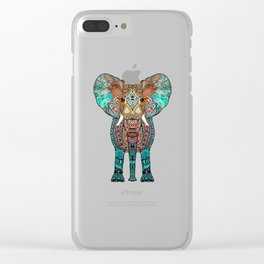 BOHO SUMMER ELEPHANT Clear iPhone Case