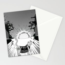 Fvck the P0lic3! Stationery Cards