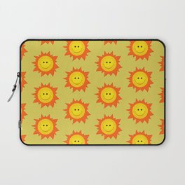 Happy Cartoon Sun Pattern Laptop Sleeve