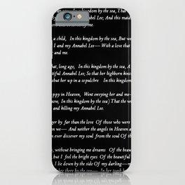 Annabel Lee Edgar Allan Poe black Classic Poem iPhone Case