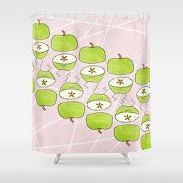 Apple Halves Shower Curtain