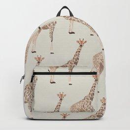 Giraffe Pattern Watercolor Backpack