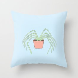Plant Spider Throw Pillow