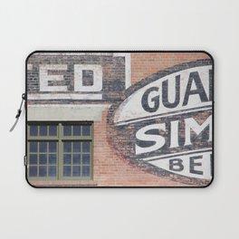 Red brick logos East Village Laptop Sleeve