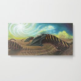 Sandworm Racers - Adam France Metal Print