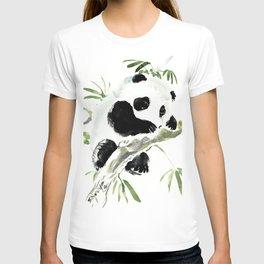 Baby Panda, Panda Bear Design, Asian ink Art T-shirt