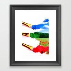 PAINT LANDSCAPE  Framed Art Print