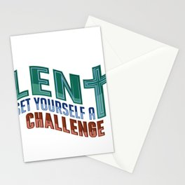 Christian Lent Set Yourself a Challenge Easter Stationery Cards