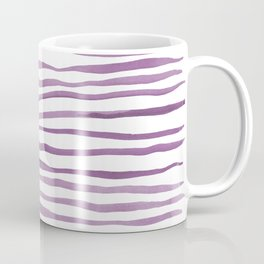 Irregular watercolor lines - ultra violet Coffee Mug