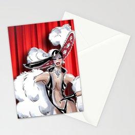 Las Vegas Showgirl Stationery Cards