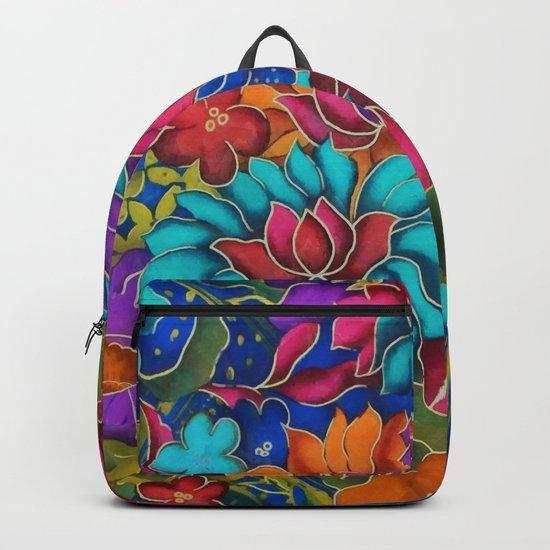 Colorful floral fantasy Backpack