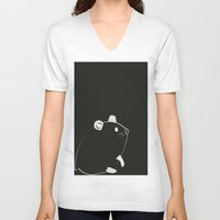 hamster V-neck T-shirts featuring Hamster by Haina