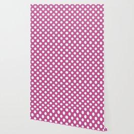 Polka dot pattern/pink background Wallpaper