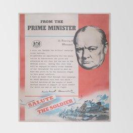 Reprint of British wartime poster. Throw Blanket