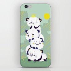 Panda pile iPhone & iPod Skin
