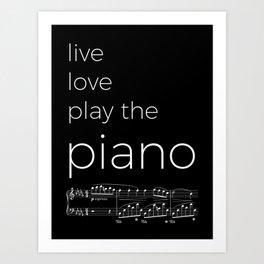 Live, love, play the piano (dark colors) Art Print