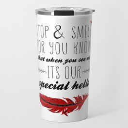 Cardinal Bird - Lost Loved One Visiting - Special Message - Angels visiting Travel Mug