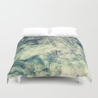 grunge Duvet Covers featuring Grunge by Amanda Roof