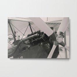 Vintage Aircraft engine. Metal Print
