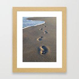 Wrightsville Beach Footprints Framed Art Print