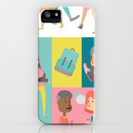 People Panel iPhone Case