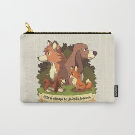 We ll Always Be Friends Forever // Red Fox, Hound Dog, 80s Kid, BFF Carry-All Pouch
