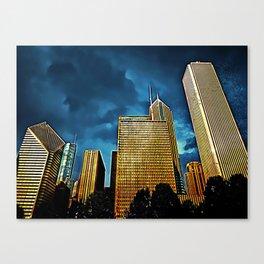 Glittering Chicago Skyline Canvas Print