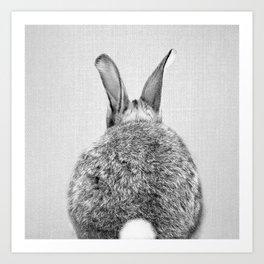 Rabbit Tail - Black & White Art Print