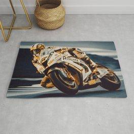 Motorcycle Racer Rug