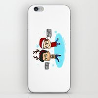 sterek iPhone & iPod Skins featuring Festive Sterek by The Paper Monster