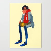 wes anderson Canvas Prints featuring peter whitman (wes anderson) by Lindsay Pak