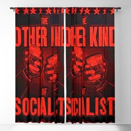 "Vintage ""The Other Kind of Socialist"" Alcoholic Lithograph Advertisement in bright Commie Red! Blackout Curtain"