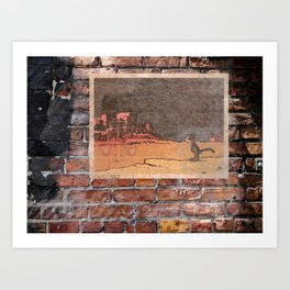The Kat in Konflict Art Print