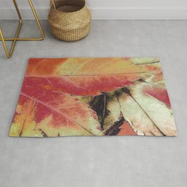 Autumn Maple Abstract Rug